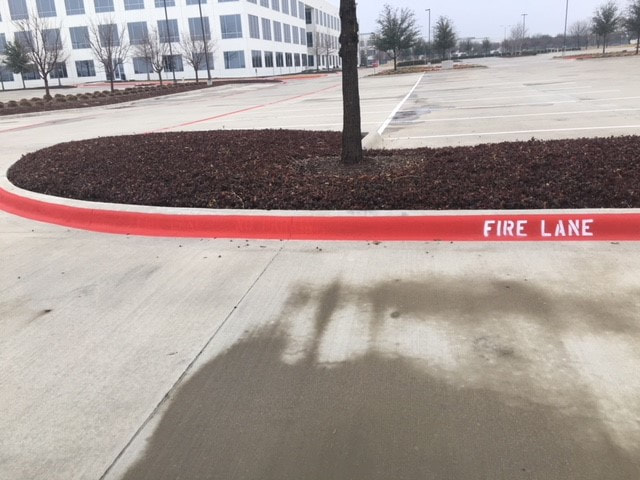 Fire Lane Curb Painting Austin