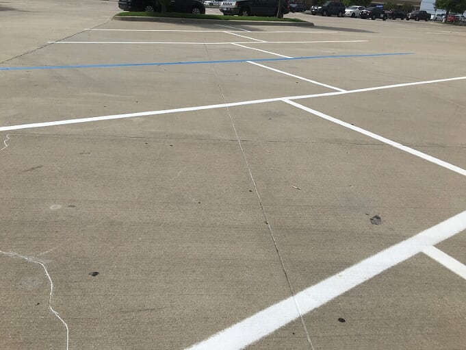 Parking lot striping and maintenance Leander, Texas