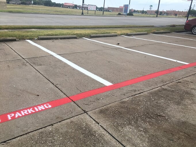 Parking lot striping and maintenance in San Marcos, Texas