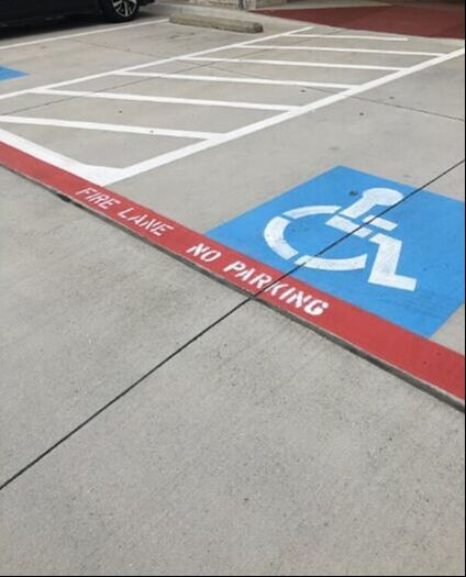 Parking lot striping and handicap stenciling New Braunfels, Texas