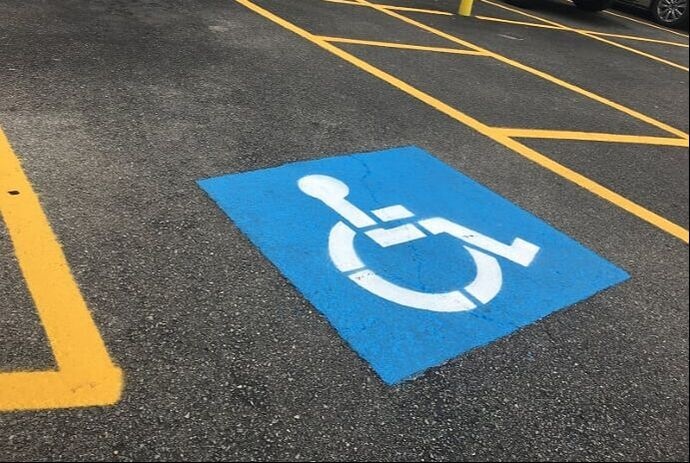 Handicap striping in your parking lot in New Braunfels, Texas