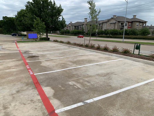 Parking Lot Pressure Washing and Maintenance